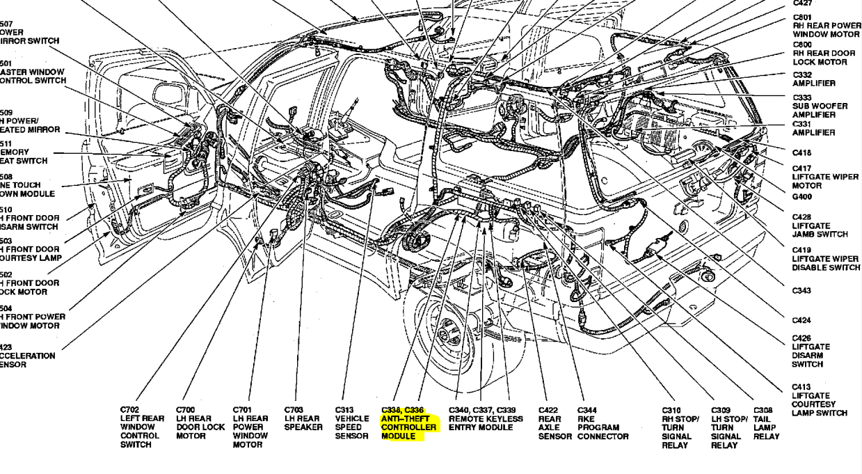 1994 Explorer Alarm Will Not Stop Lights Flash And Horn Honks. Ford. 1994 Ford Explorer Door Schematic At Scoala.co