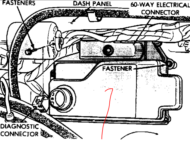 where is the ignition control module located on a 1991