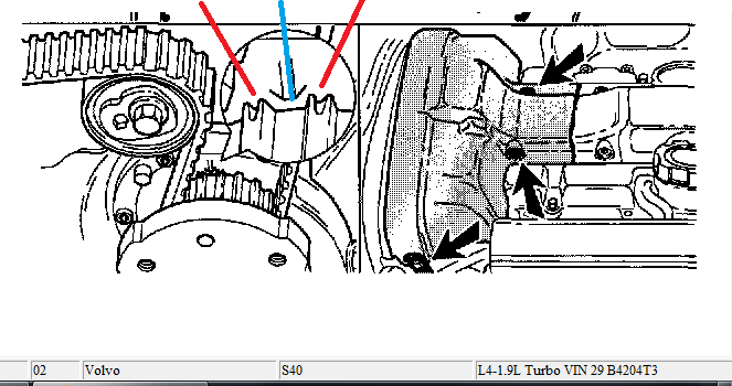 i see the marks on the cam pulley arrows are up but where