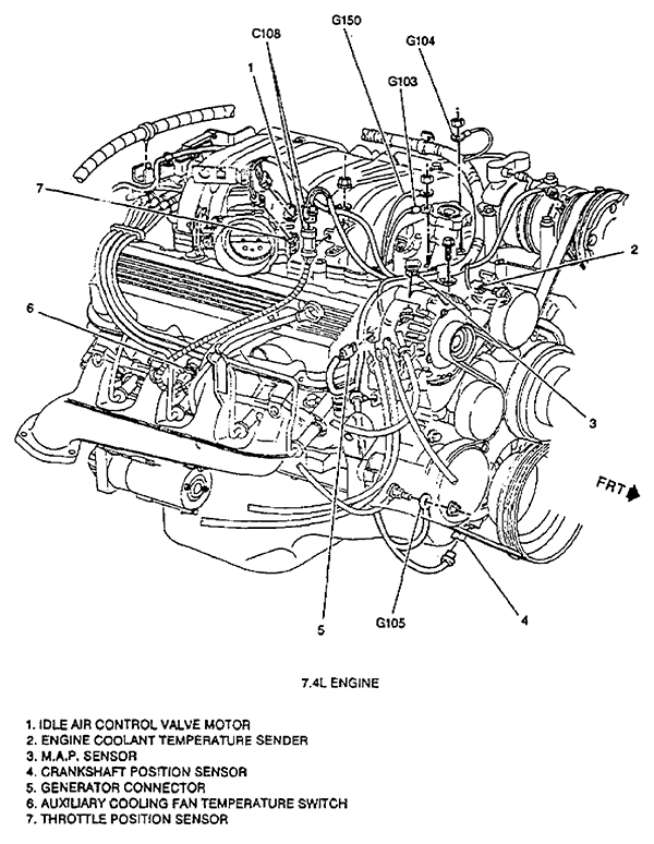37aca 97 Dodge Ram 1500 2wd 5 2 Engine Skipping likewise 32md1 93 Dodge Ram 150 5 2l Won T Start No Previous Troubles furthermore Chrysler 3 3l V6 Engine Diagram besides 3mbki 1995 Gmc Crank Shaft Sensor Located Dually Wont Start also Ford 7 3 Diesel Engine Diagram. on crankshaft position sensor chevy truck