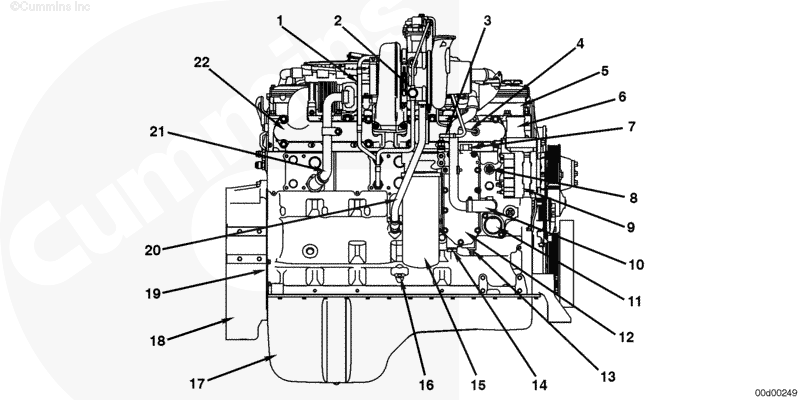 2007 isl engine what is the location of water temp sensor units  do you have a schematic