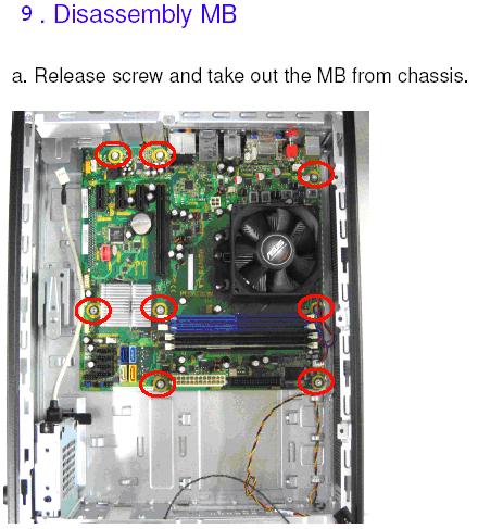 Hp A6000 Service manual