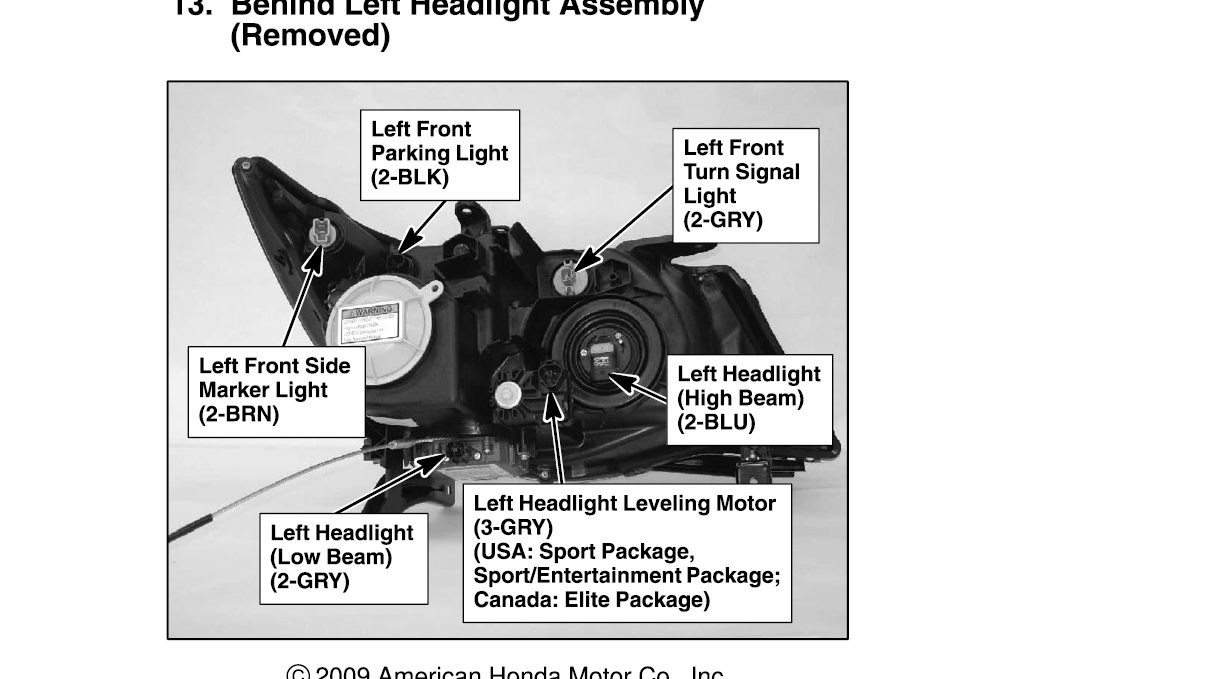 I Have A 2007 Mdx And My Driver Side Hid Low Beam Is Not