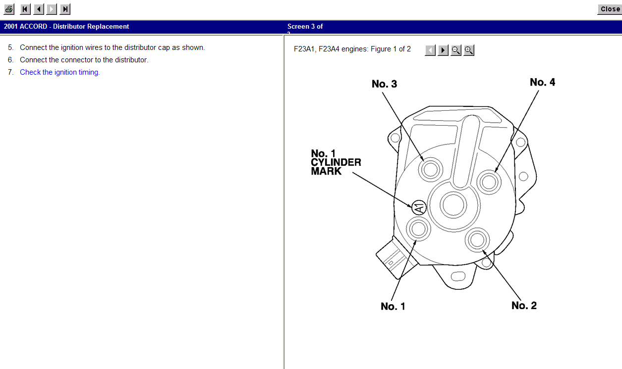 I have a 2001 Honda Accord EX that I just replace the rotor ... F A Wiring Diagram on