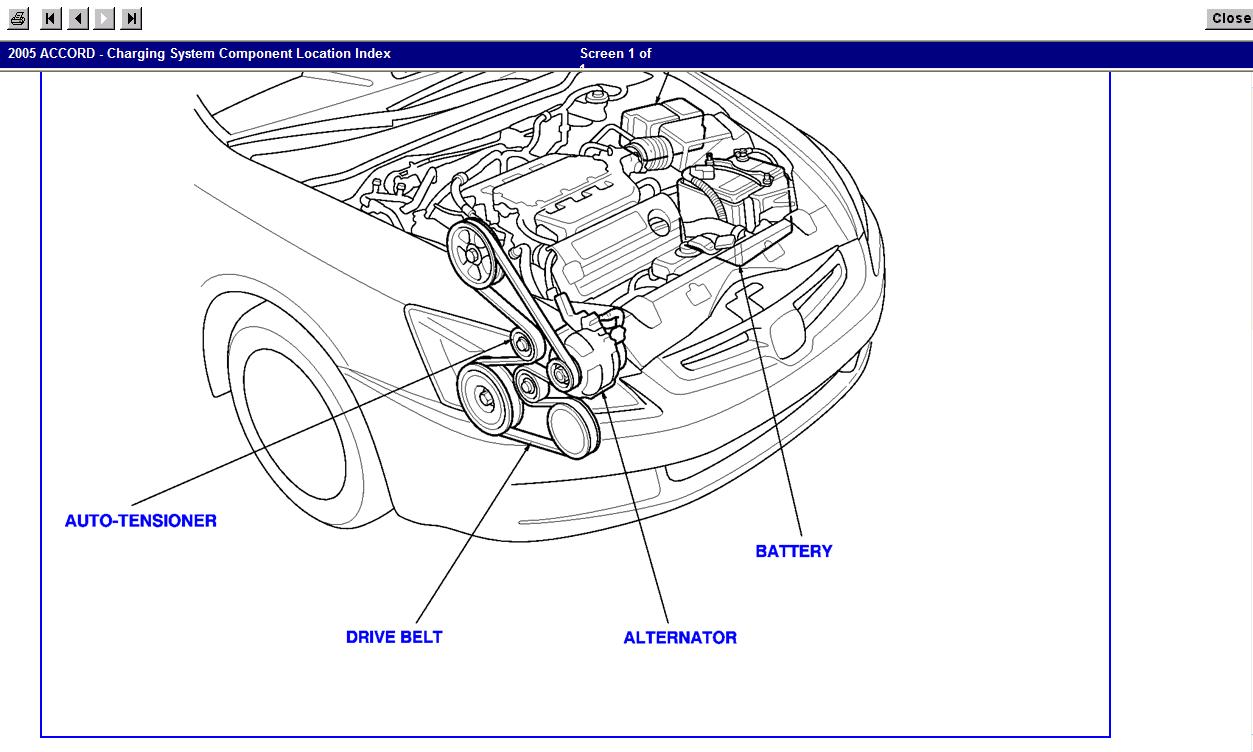 Diagram 2005 Honda Accord Drive Belt Diagram Full Manual Guide