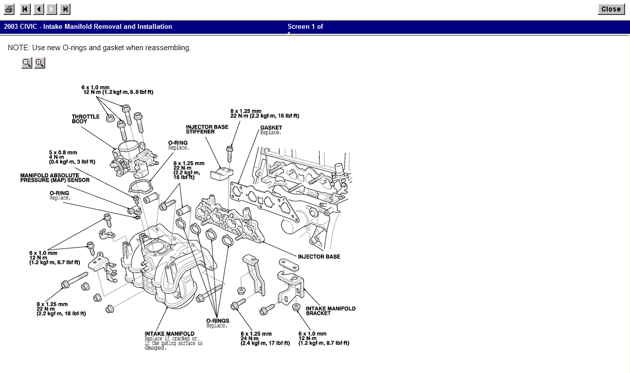 2003 Civic 1 7l Engine  I Keep Getting Code P0401 Exhaust