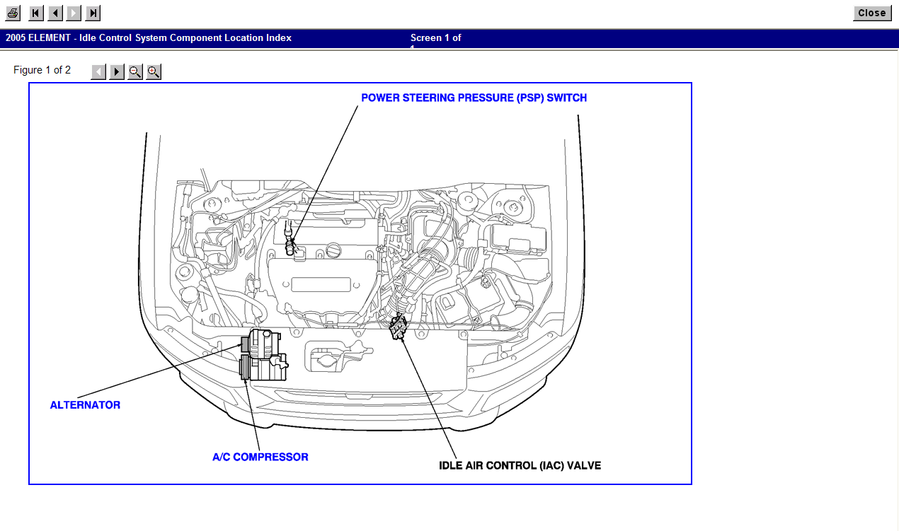 the image is out of the factory service manual.