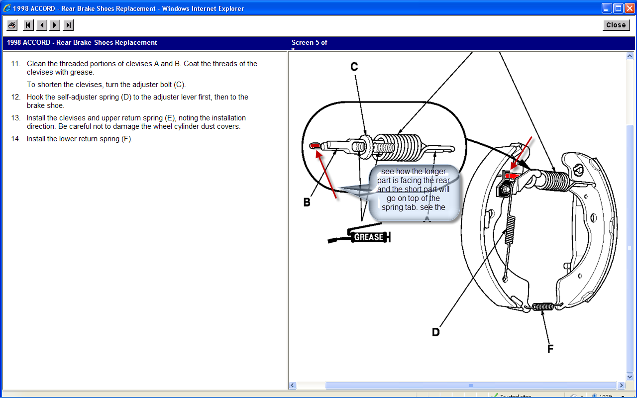 I Have Removed The Rear Brake Drums On A 98 Honda Accord After Diagram Full Size Image
