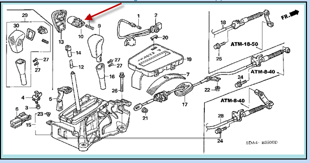 2004 Honda Accord Transmission Diagram
