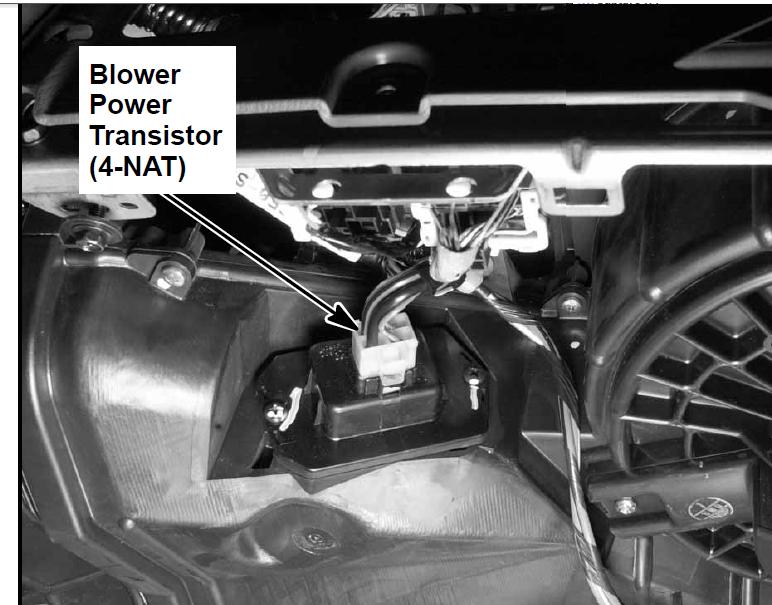 Transistor Location on 2002 Honda Civic Blower Motor Resistor Location
