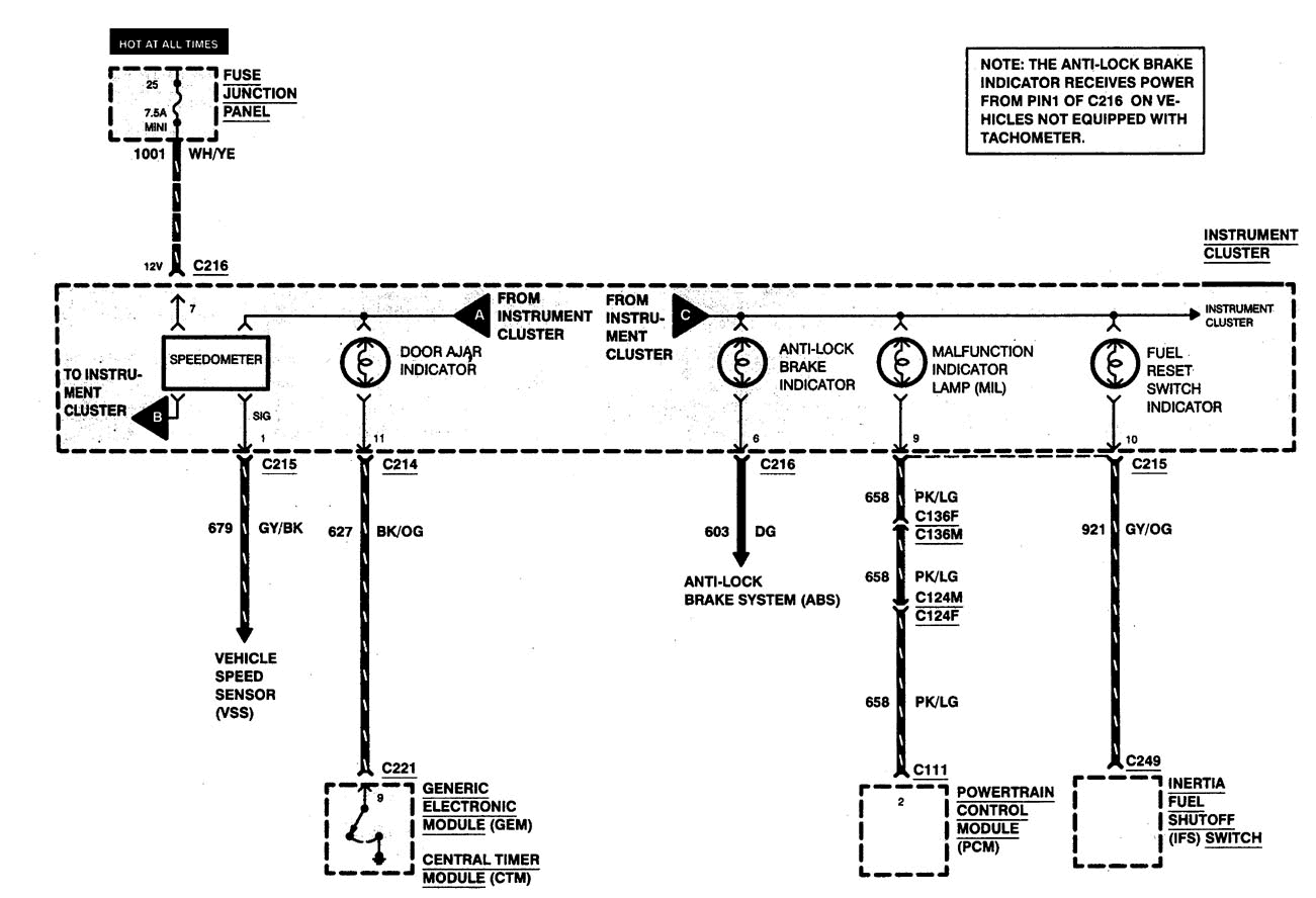 99 ranger: speedometer  speed sensor on the rear diferential  30 mph  graphic  99 f350 trailer plug wiring diagram