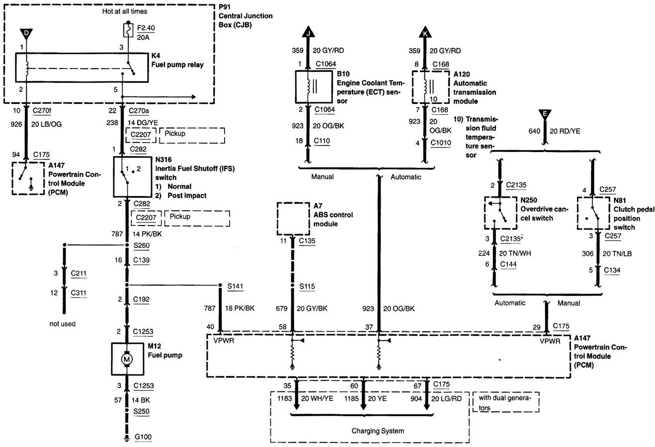Need Fuel Pump Schematic And Pinout For Diagnostic  Circuit