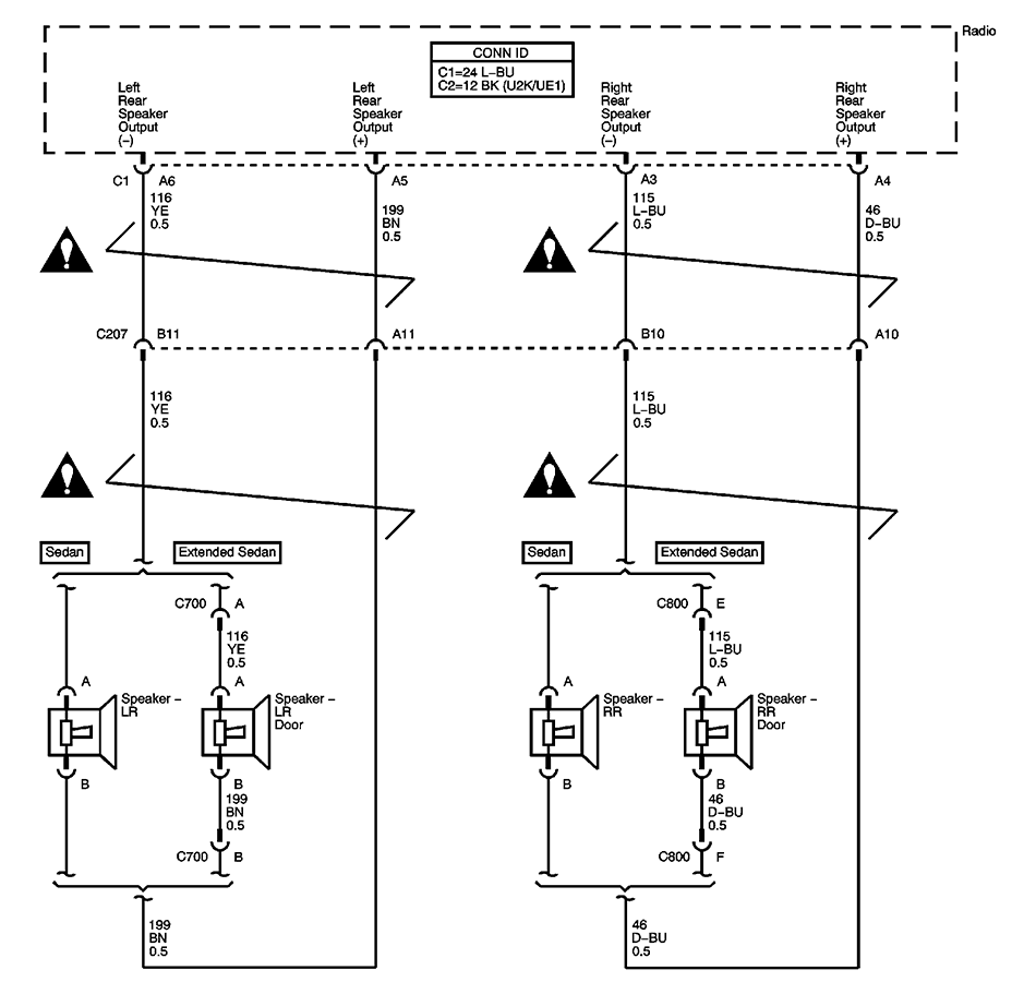 Im Installing An Aftermarket Jvc Radio In A 2005 Malibu Classic Wiring Diagram For Speaker Connection Graphic