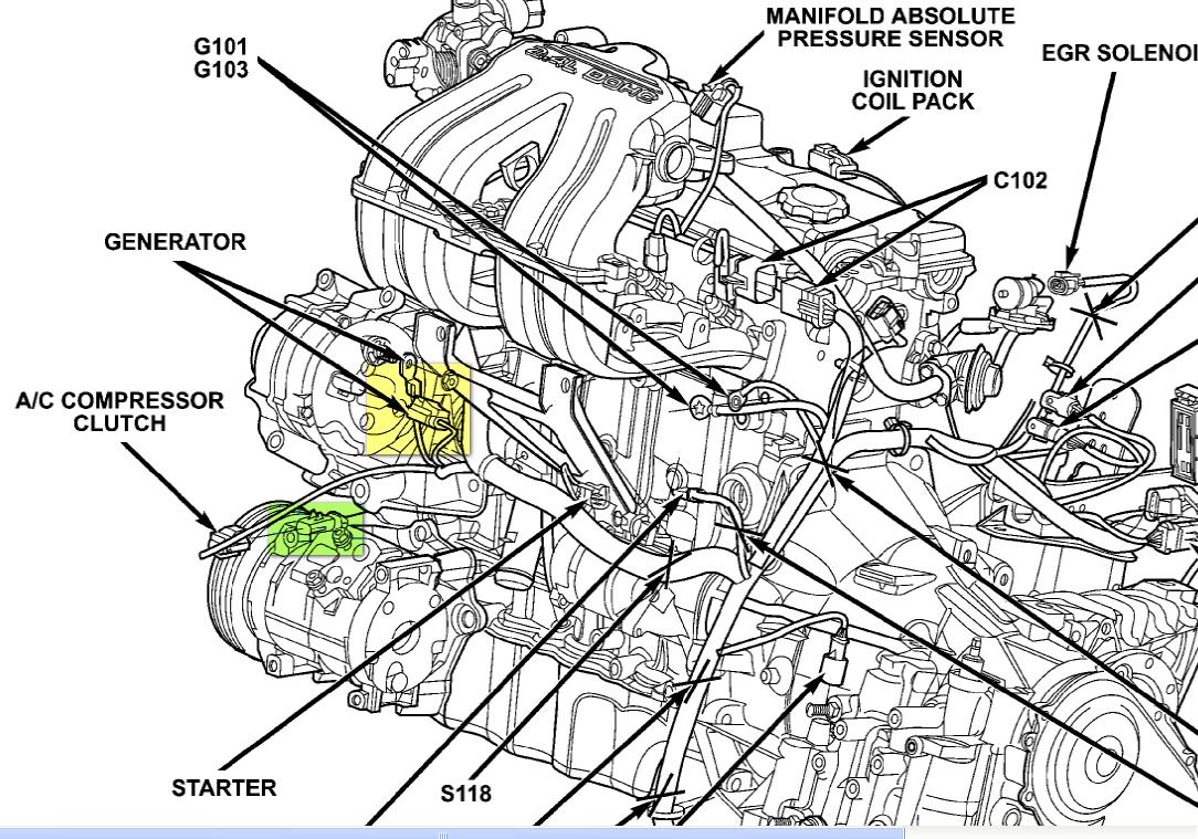 2002 Chrysler Voyager 2.4 automatic. Description: graphic Chrysler Voyager Engine  Diagram