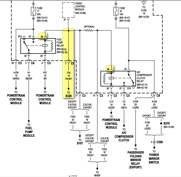 chrysler sebring fuse box location wirning diagrams