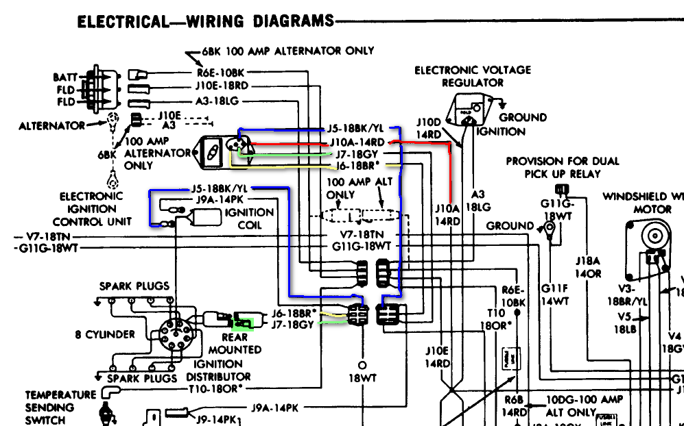 1975 dodge pick up. drive along and engine turns off like ... 57 chevy wire diagram #8