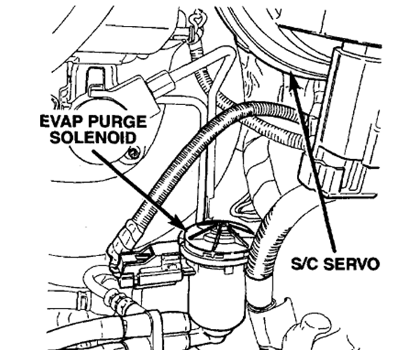 service manual  replace evap canister on a 2007 chrysler