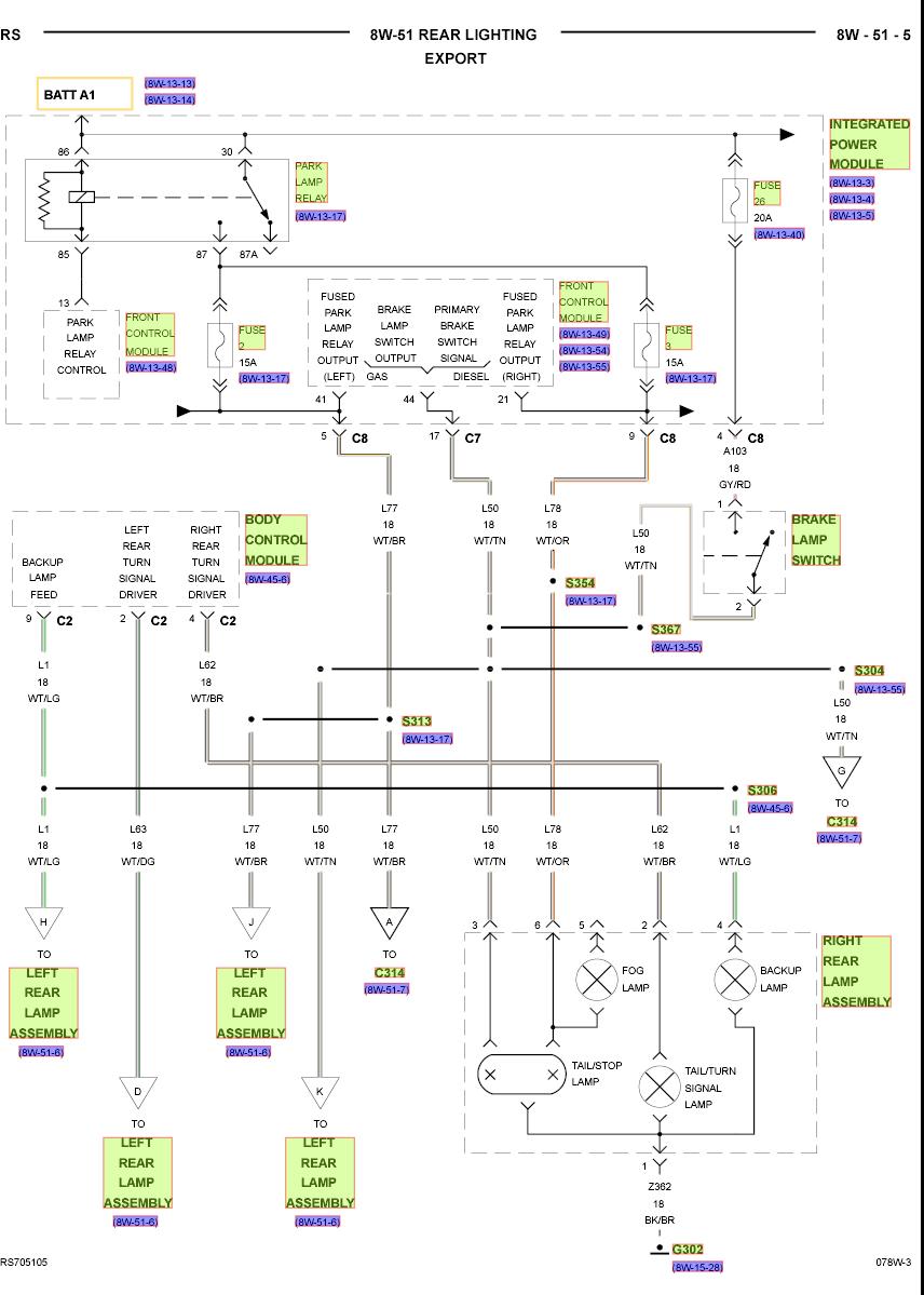 Chrysler Grand Voyager Workshop Wiring Diagram