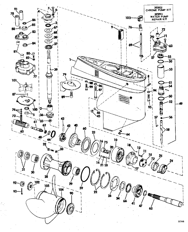 Johnson Outboard Lower Unit Diagram
