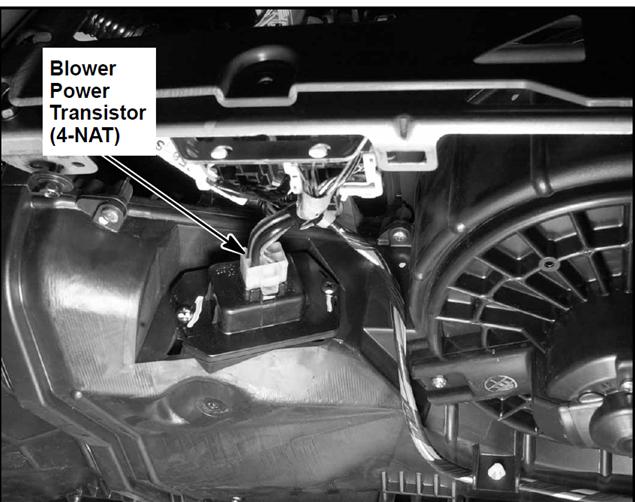on 2002 Honda Civic Blower Motor Resistor Location