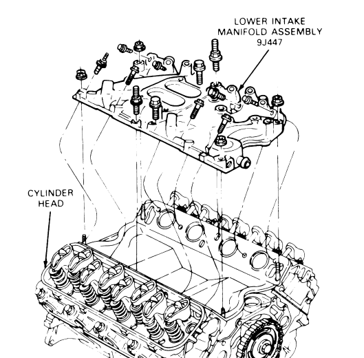 ford 460 exhaust diagram