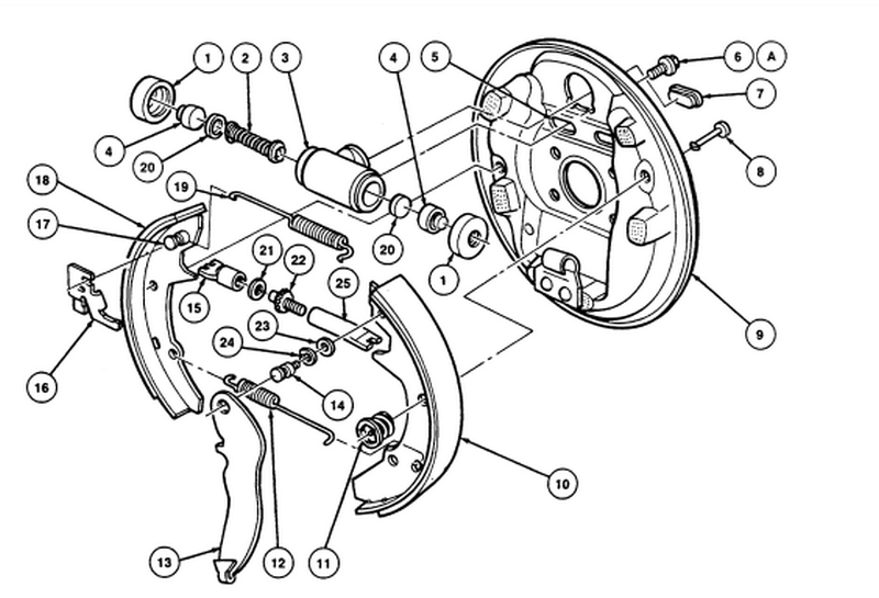 How Do You Replace Rear Drum Brake On A 2005 Ford Tarus