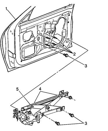 2004 pontiac sunfire manual window regulator