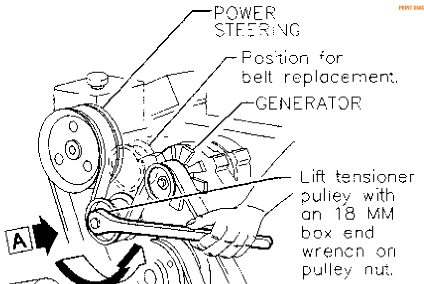 serpentine belt diagram 1995 buick park avenue html