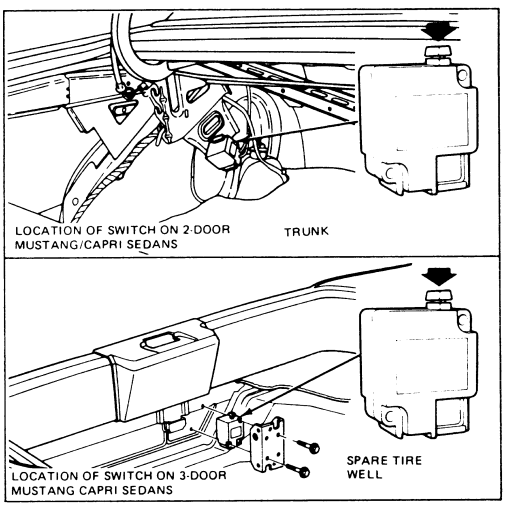 ford taurus fuel shut off switch location