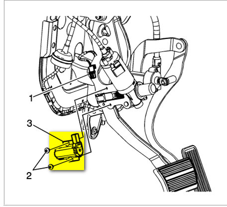 We need the location of the adjustable pedal position