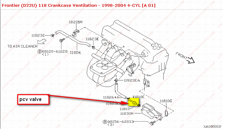 Wher Is The Pcv Valve Located On A 2000 14 Nissan Fronteirrhjustanswer: Nissan Murano Pcv Valve Location At Gmaili.net