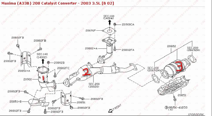 2005 nissan altima bumper diagram