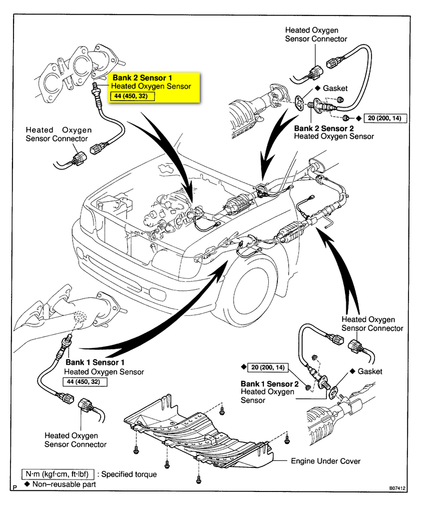 2000 Toyota Tundra Engine Diagram Wiring Data Radio For 2001 Looking Oxygen Sensor Bank2 Sensor1 On V8 4wd Celica Gts