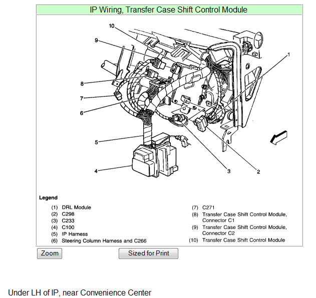 willnot shift out of four wheel code c0323 supposed to be an encoder moter need to locate this