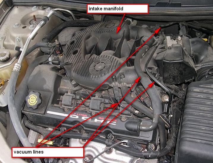 on 2001 Dodge Durango Vacuum Diagram