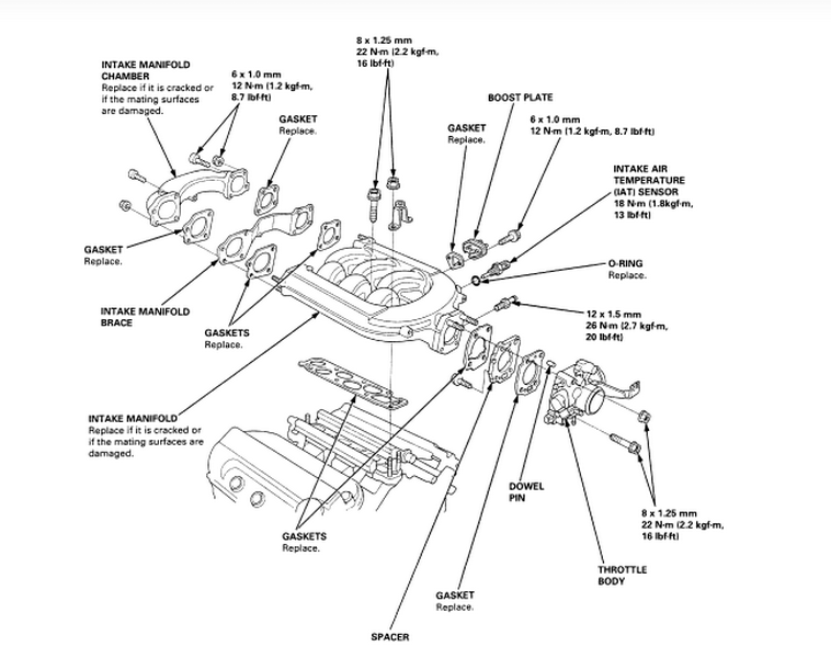 i am trying to find a diagram for removal of the intake