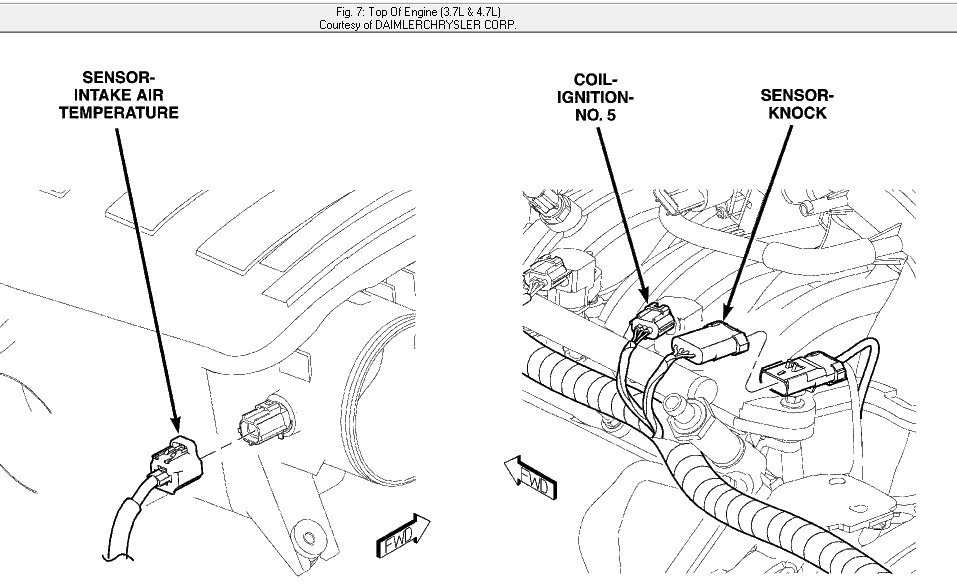 Where is the iat sensor on mt 2008 durango 4.7 magnum v8? a ... on