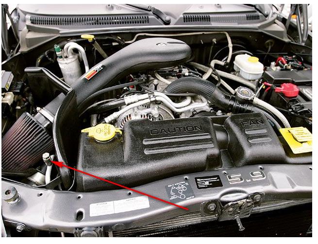 on 2001 Dodge Durango Engine Compartment