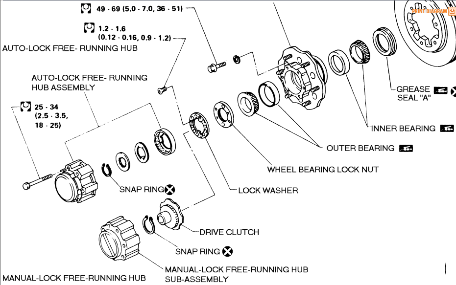 1999 nissan pathfinder parts diagram wheel berring  nissan