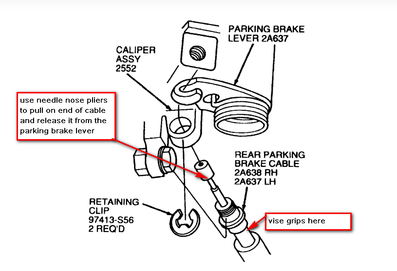 ford taurus rear brake diagram