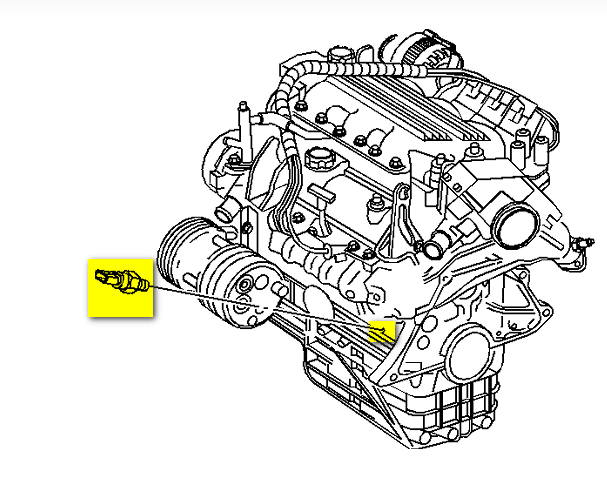 2007 pontiac g6 oil pressure sensor location