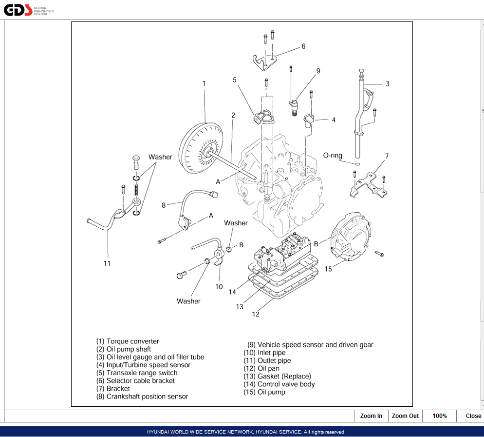 Kia Sephia   We Need Print Out Of Valve Body And Transmission