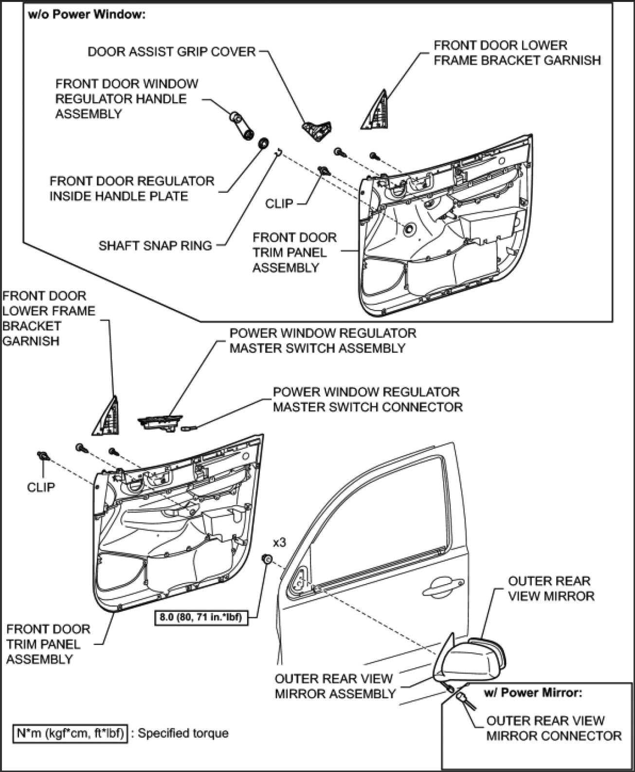 toyota tacoma door parts diagram  u2022 wiring diagram for free