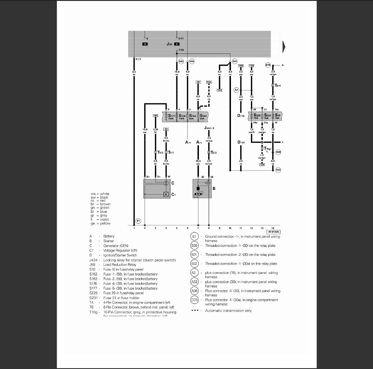 Does Anyone Have The Electrical Diagram For A 2001 Vw Beetle