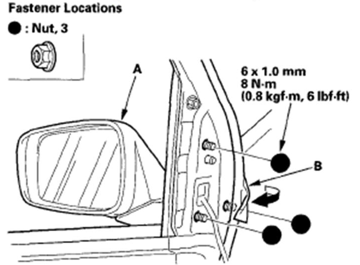 How Do I Replace The Passenger Side Mirror Assembly On A MDX - Acura mdx side mirror replacement