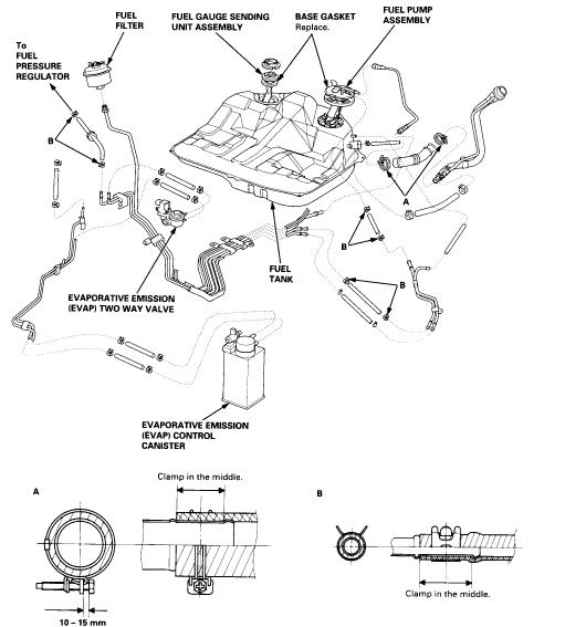 service manual  remove gas tank 2002 acura tl