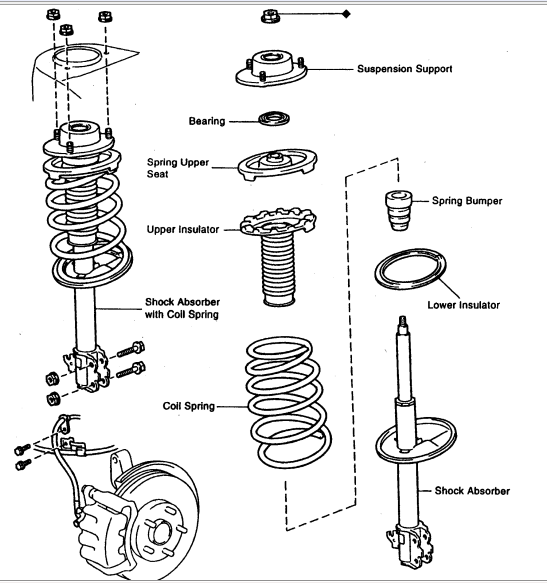 directions on changing front struts