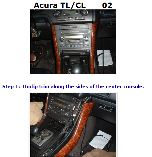 I Need To Remove My Radio From My 2002 Acura TL Type S, I