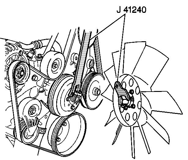 fan clutch removal 2004 chevy trailblazer