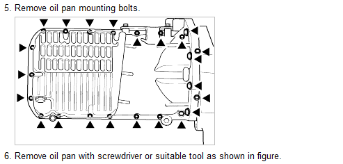 how do i replace the oil pan gasket in a 2001 kia spectra